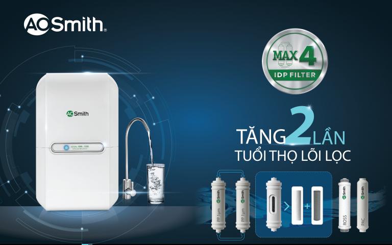Công nghệ Max4 trên sản phẩm máy lọc nước AR75-A-M-1 của AOSmith