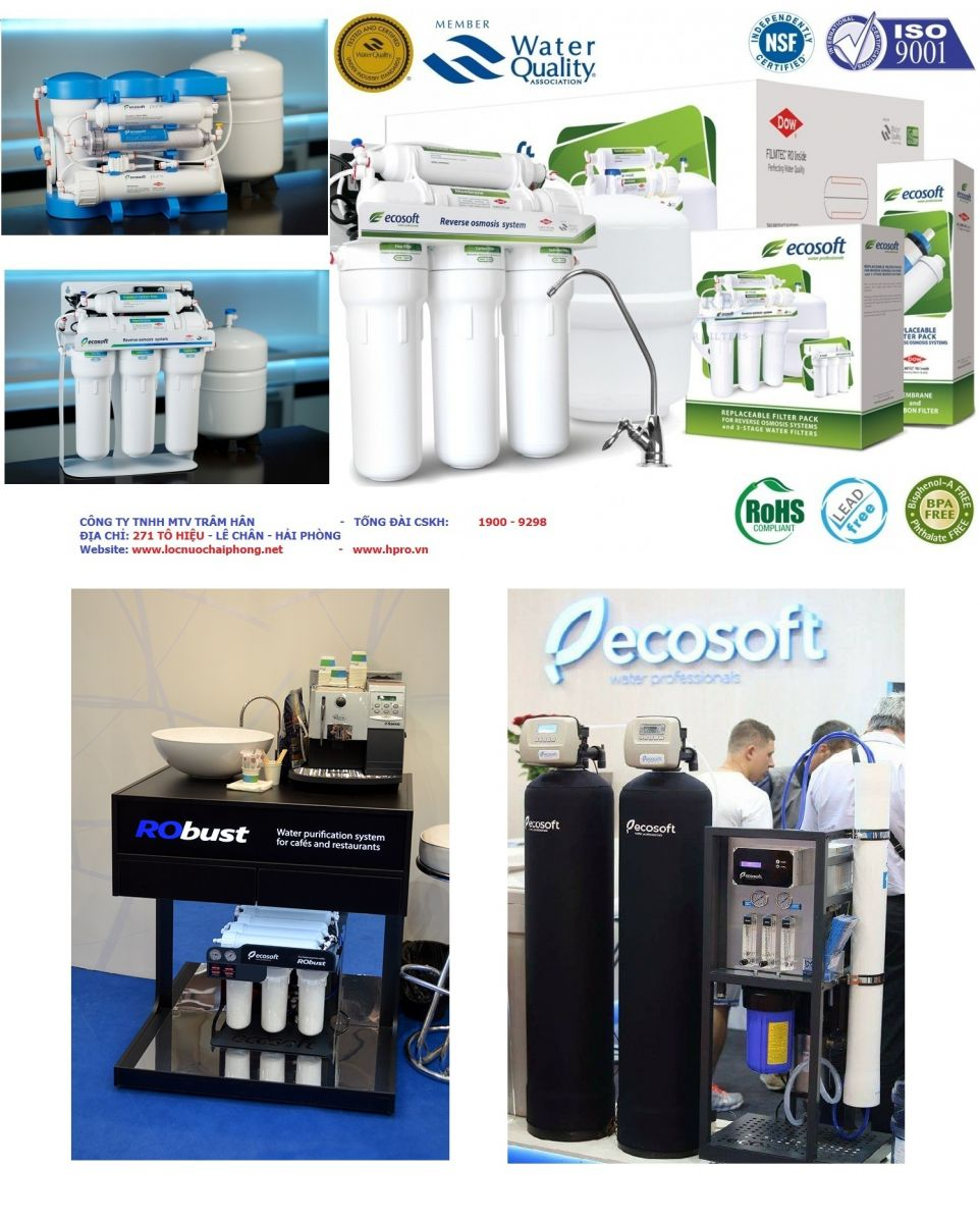 Địa chỉ bán máy lọc nước ecosoft Uy Tín tại Hà Nội