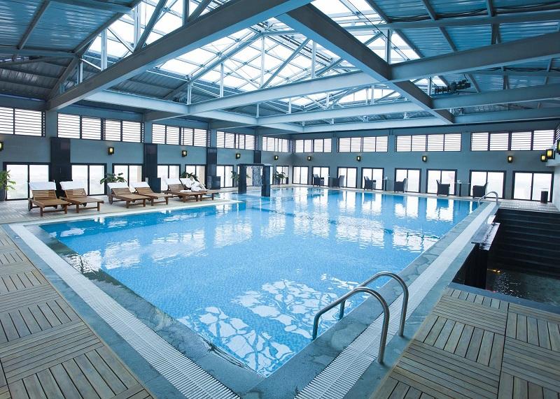 Hệ thống xử lý nước lọc thô lọc tổng cho hồ bơi